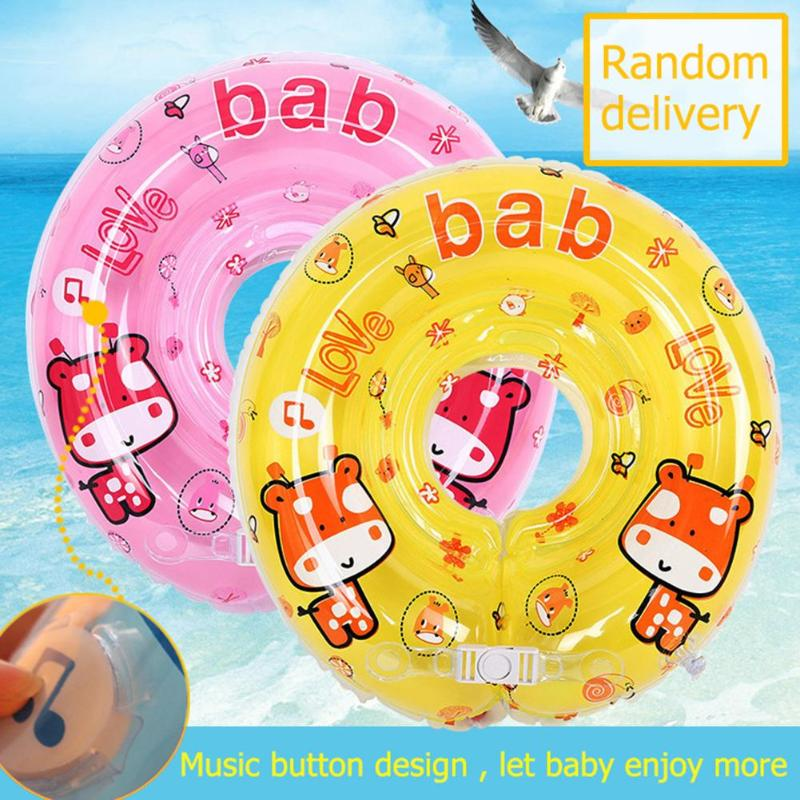 Safety Baby Swimming Ring Kids Cartoon Deer Seat Float Inflatable Kids Summer Beach Pool Water Swim Training Aids Circle Toys