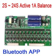 2S 24S 1A активный эквалайзер, приложение BMS, li ion, Lifepo4, литиевая батарея титанита, балансир батареи, 7S, 8S, 10S, 12S, 13S, 14S, 16S, 20S