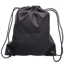 6 Pack Drawstring Backpack Bags 420D polyester Folding Shoulder Tote Sack Cinch Bag for Picnic Gym