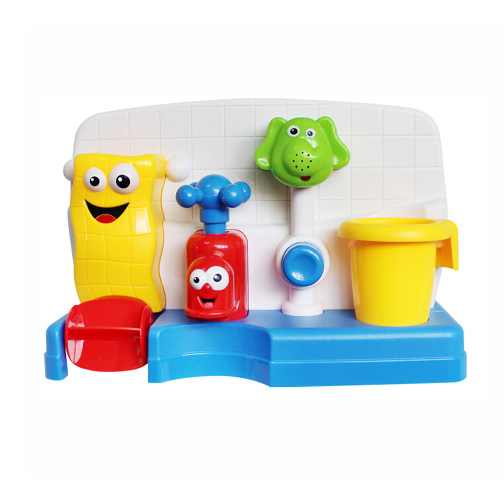 OfficiëLe Website Baby Bad Speelgoed Kids 'spray Kraan Play Plastic Multicolor Wassen Speelgoed Spuiten Water Douche Gift Wiel Type Dabbling Speelgoed