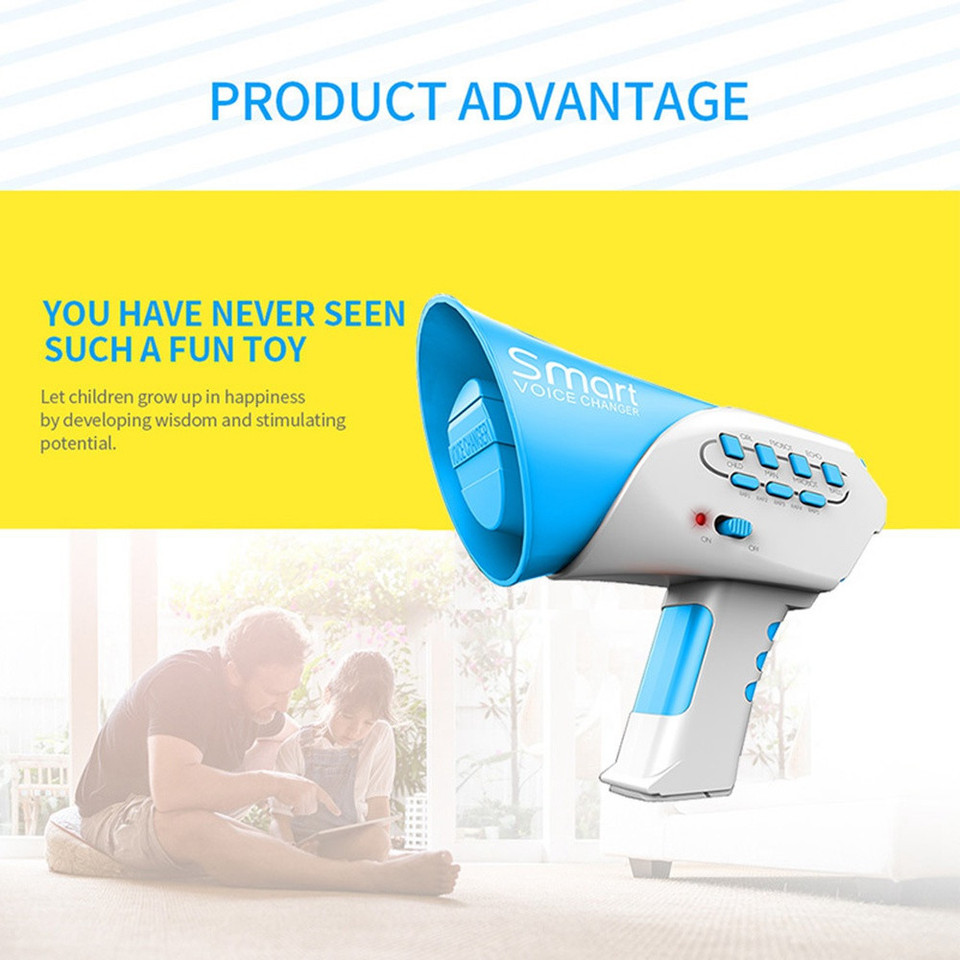 Novelty Toys Loudspeaker Multi Voice Changer Creative Funny Voice-changing  Toys With 7 Different Voice Modifiers For Kids Gift