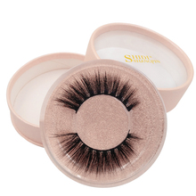 SHIDISHANGPIN 1 pair makeup cross winged lash hand made box 3d mink eyelashes 1cm-1.5cm full strip extension
