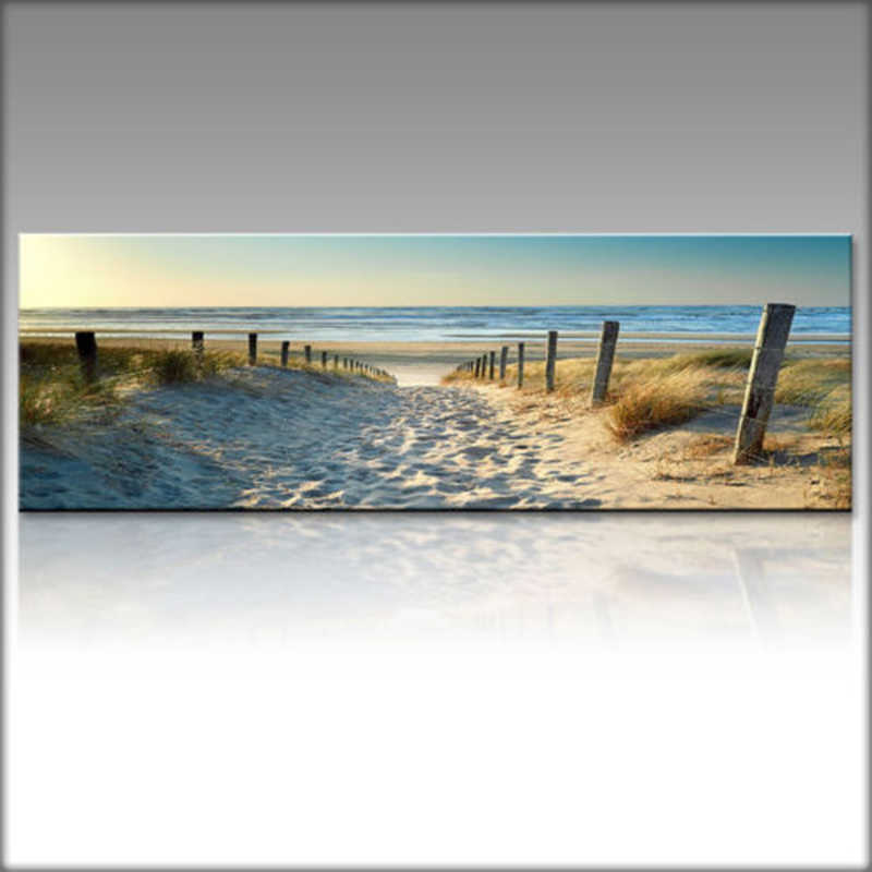 Ocean Beach Abstract Painting Canvas Wall Art Poster Print Picture Home Part New