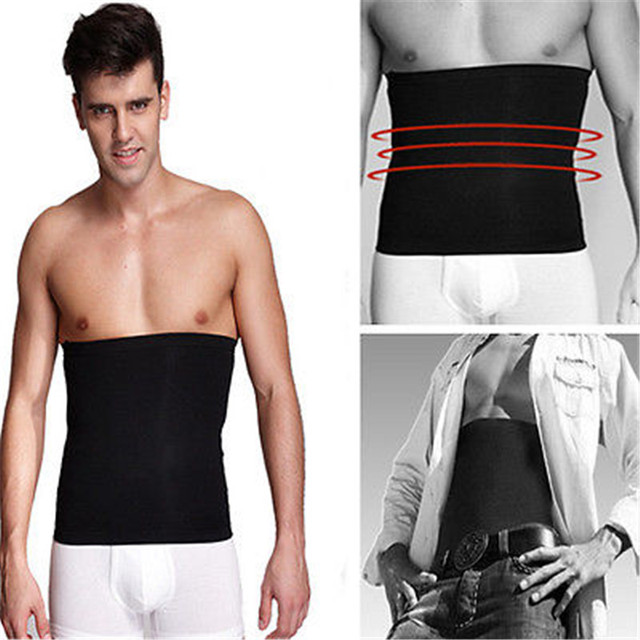 Men Losing Weight Fat Burner Corset Beer Belly Body Shaper Slimming Waist Trimmer Belt Sweatband Belly 2