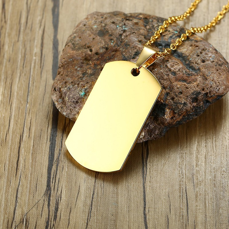 Stainless Steel Arm Tag Men's Pendant