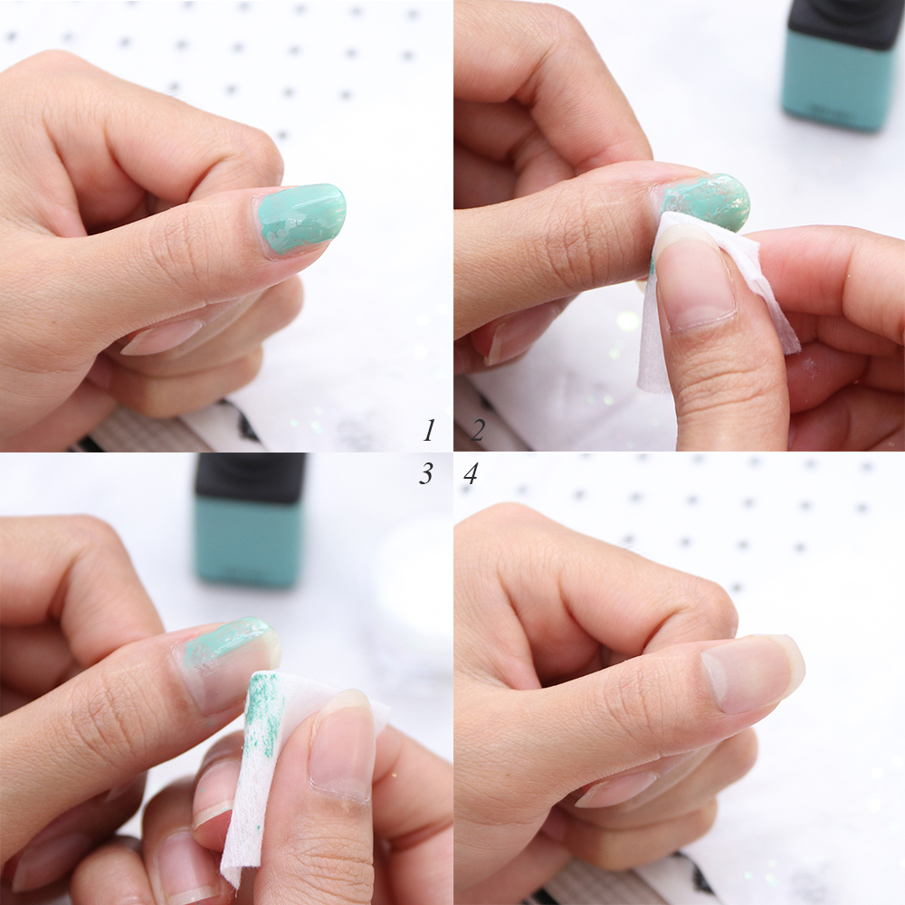 Image 5 - 1 pack Gel Polish Remover Pad Nail Wipes Cleaning Lint Free Paper Pad Soak off Remover Manicure Cotton Napkins Wrap Tool CH957 1-in Nail Polish Remover from Beauty & Health