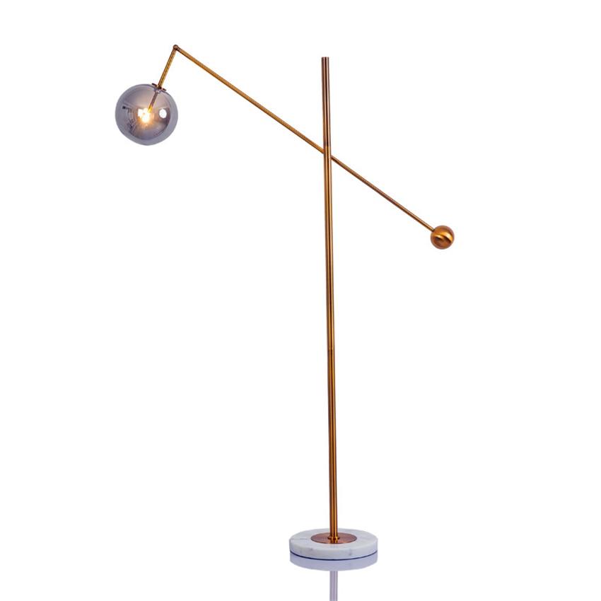 Modern LED Glass Floor Lights Metal Vertical Art Bedside Bedroom Living Room LED Floor Lamps Iron Standing Lamps Fixtures Decor in Floor Lamps from Lights Lighting