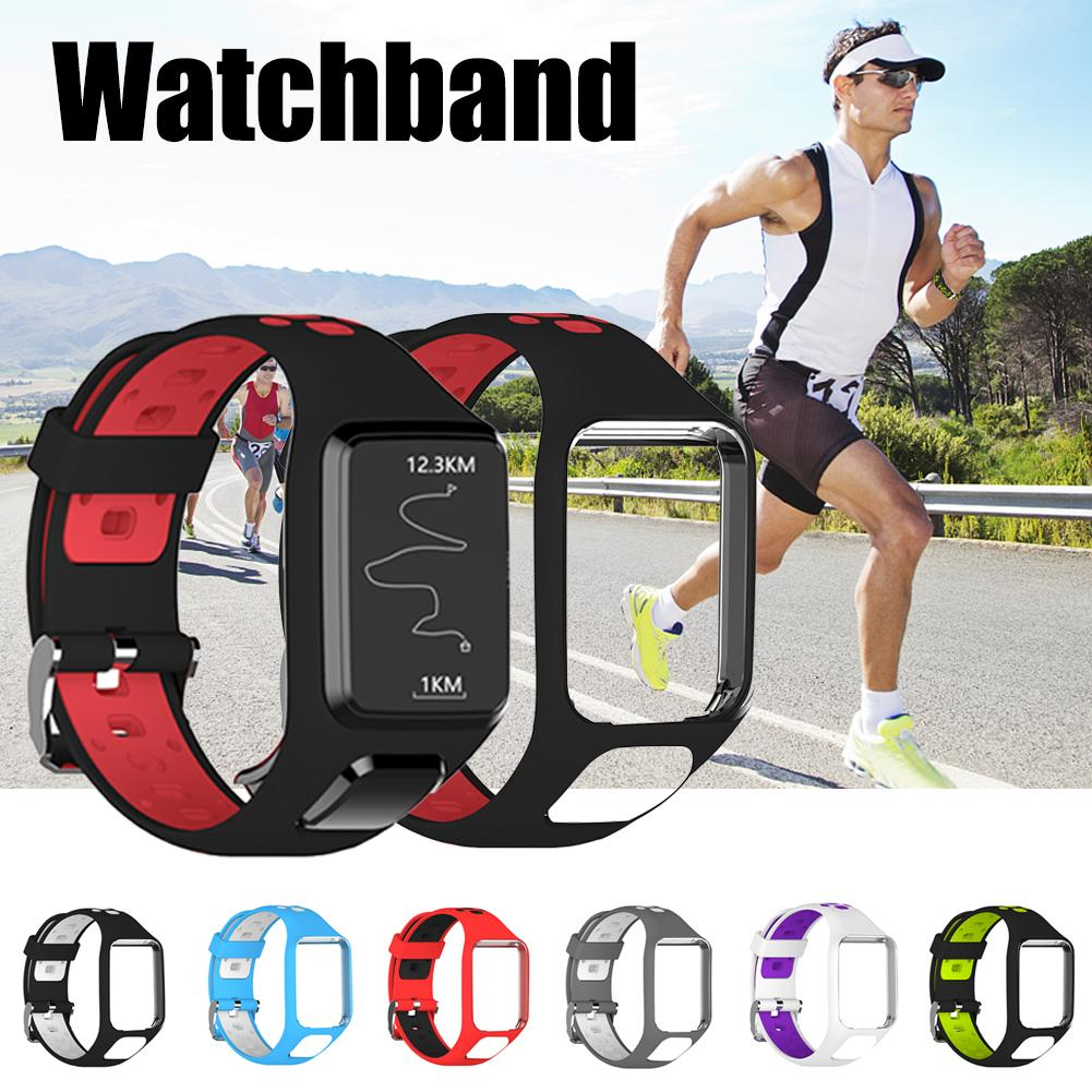 Silicone Replacement Watchband Wrist Band Strap For TomTom 2 3 Runner 2 3 Spark 3 GPS Watch Strap Porous Design Comfortable-in Smart Accessories from Consumer Electronics