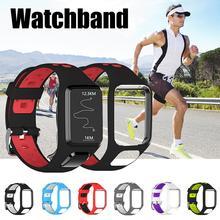 סיליקון החלפת רצועת השעון להקת יד רצועת עבור TomTom 2 3 רץ 2 3 ספארק 3 GPS שעון רצועת נקבובי עיצוב נוח