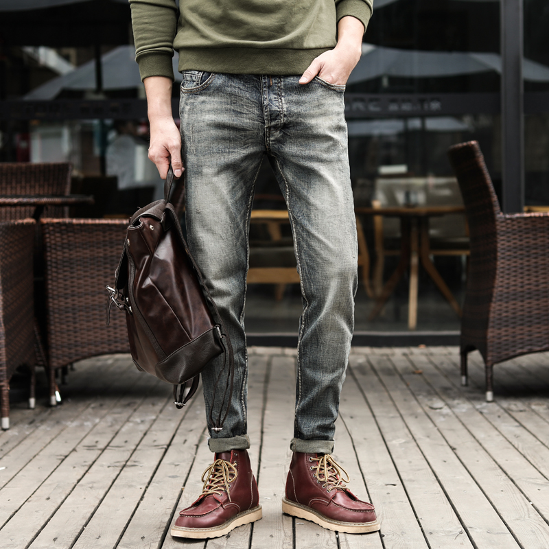 Mens Regular Fit Jeans With Free Belt Straight Leg Button Fly Denim Pants Black
