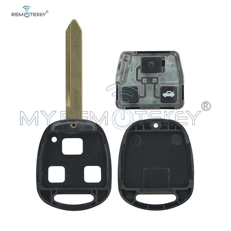 Remtekey 5 Chiếc 736670-A 3 Nút 434 MHz Cho Xe Toyota Avensis 2004 2005 2006 2007 2008 2009 4d70 Chip Toy47 phím Remote Uncut Blade