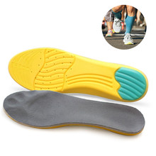 Breathable Insole Men Women Sports Shock Absorbing Shoes Pad Orthotic Shoes Insole Arch Supporter Sweat Absorbent Cushion(China)