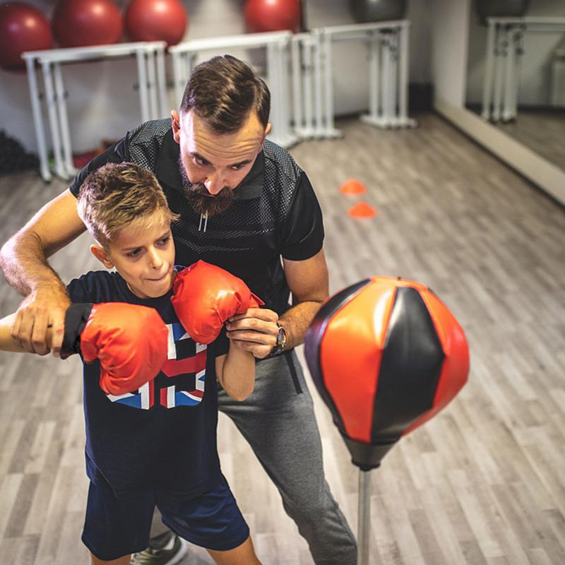 Enfants Sports boxe Set jouet gants sacs de sable balle de frappe enfants hauteur réglable boxe intérieur exercice décompression jouet