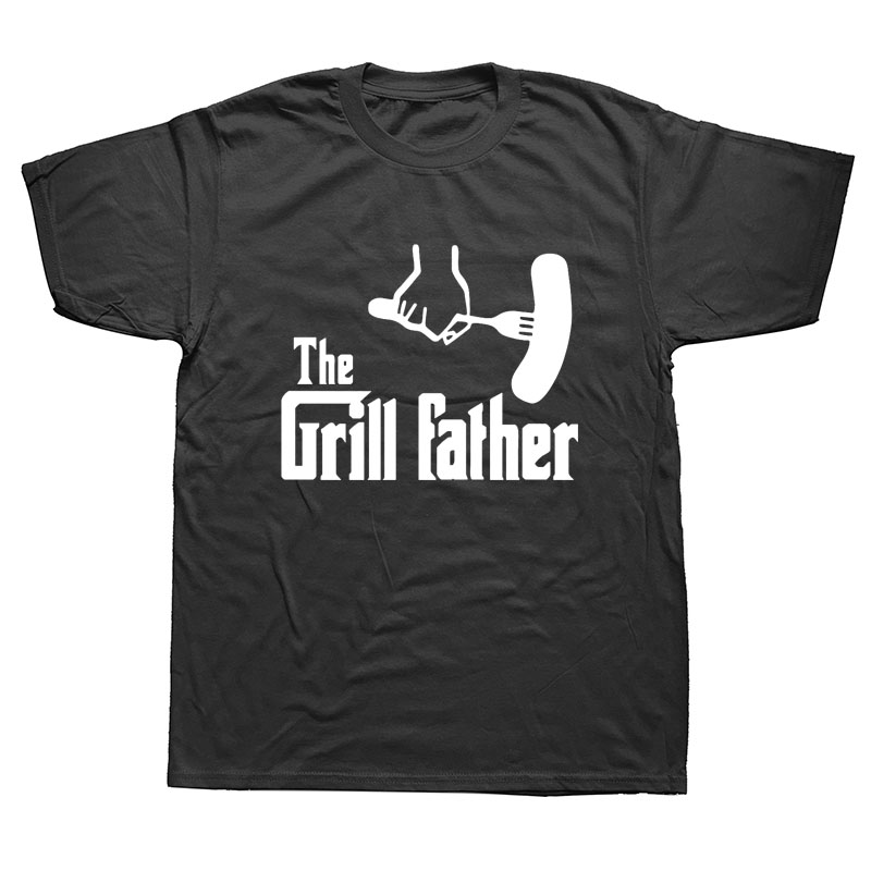 The Grill Father Cooking Chef Novelty Mens Birthday Gift Mens Men T Shirt Tshirt New O Neck Casual T-shirt Tee Camisetas
