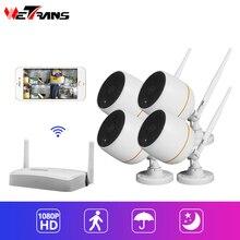 Wetrans мини камера видеонаблюдения с WiFi 1080 P безопасности Системы комплект IP66 Водонепроницаемый Камера набор для наблюдения Беспроводной аудио Beveiligings Cam