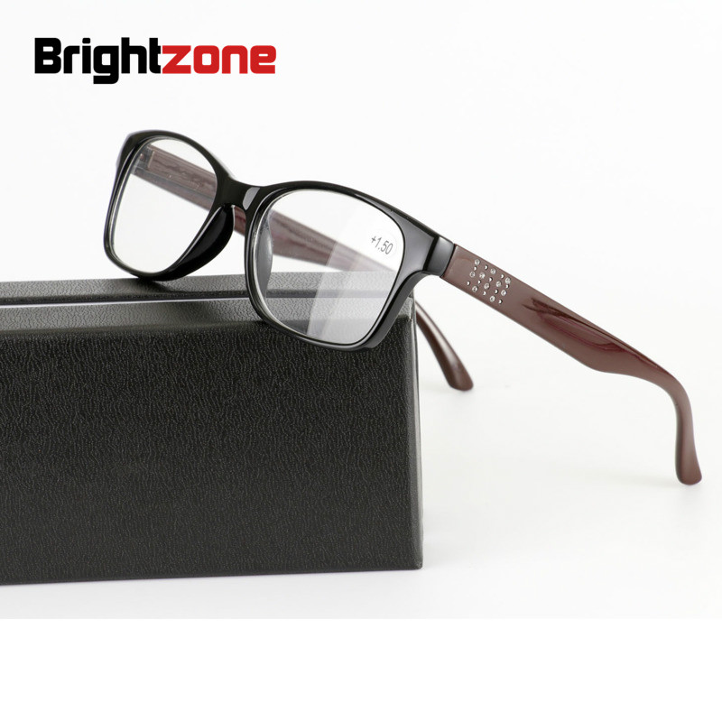 Brightzone 2019 New Classic Eyeglasses Spectacle Frame Diamonds Woman Presbyopic Computer Reading Glasses Comfortable Hyperopia