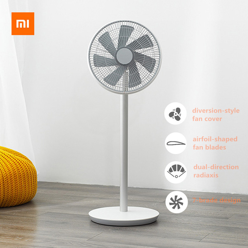 Xiaomi Smartmi 2 2S Floor Fan Wireless DC Frequency Fan Natural Wind MIJIA APP Control Children Lock Floor Fan 2800mAh Air Fan