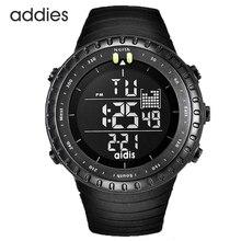 Homens Digital relógio preto exército tático Backlight de LED impermeável relógio rosto grande cronômetro alarme militar relógios desportivos