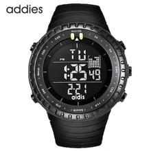 Mannen digitale horloge zwart tactische Army waterdichte LED achtergrondverlichting Watch grote gezicht Stopwatch Alarm militaire Sporthorloges