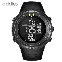 Men Digital Sports Watch Black Tactical Army Waterproof LED Backlight Watch Large Face Stopwatch Alarm Military Watches