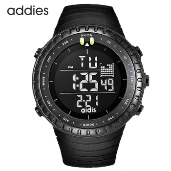 цена Men Digital Sports Watch Black Tactical Army Waterproof LED Backlight Watch Large Face Stopwatch Alarm Military Watches онлайн в 2017 году