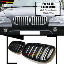 xDrive30i xDrive35i xDrive48i For X6 E71 Injection mold ABS Grille Front Kidney Gloss Black X6M 2008-14