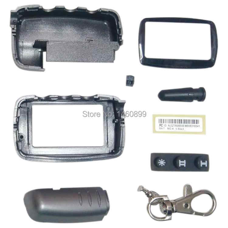 Wholesale A9 Case Keychain for 2 way Car alarm System LCD Remote Control Key Fob Chain Starline A9 A6 A8 A4