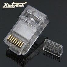 Xintylink rg45 ethernet câble connecteur rj45 prise cat6 réseau rg rj 45 8p8c modulaire cat 6 utp non blindé jack plaqué or 50pcs