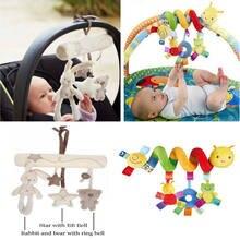Bonito espiral atividade carrinho de carro assento berço pendurado bebê jogar brinquedos chocalhos infantil