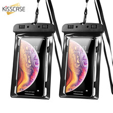 KISSCASE Clear Waterproof Mobile Phone Case For iPhone X Xs Max 8 7 Bag PVC Sealed Underwater Samsung S10 Cover