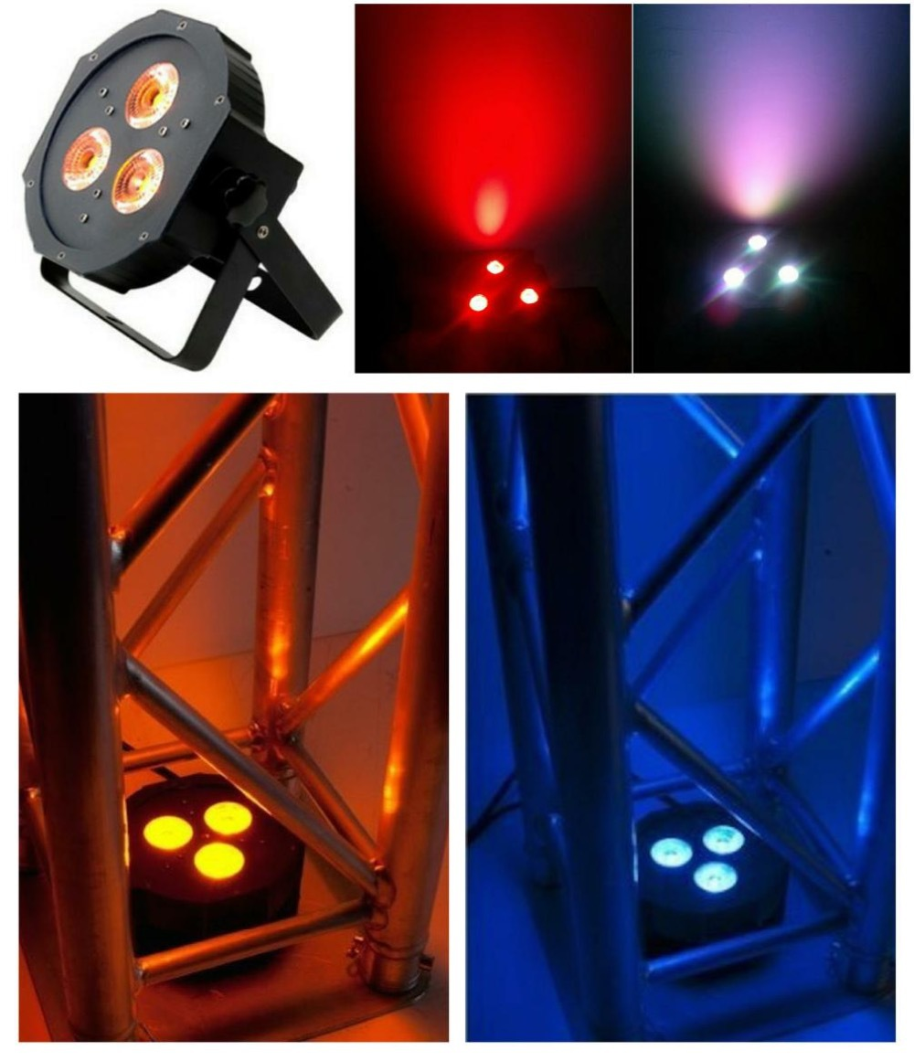 10pcs/lot, ADJ Flat Par led 3x12W RGBA / RGBW Quad 4in1 slim par36 IEC american dj dmx wedding lighting