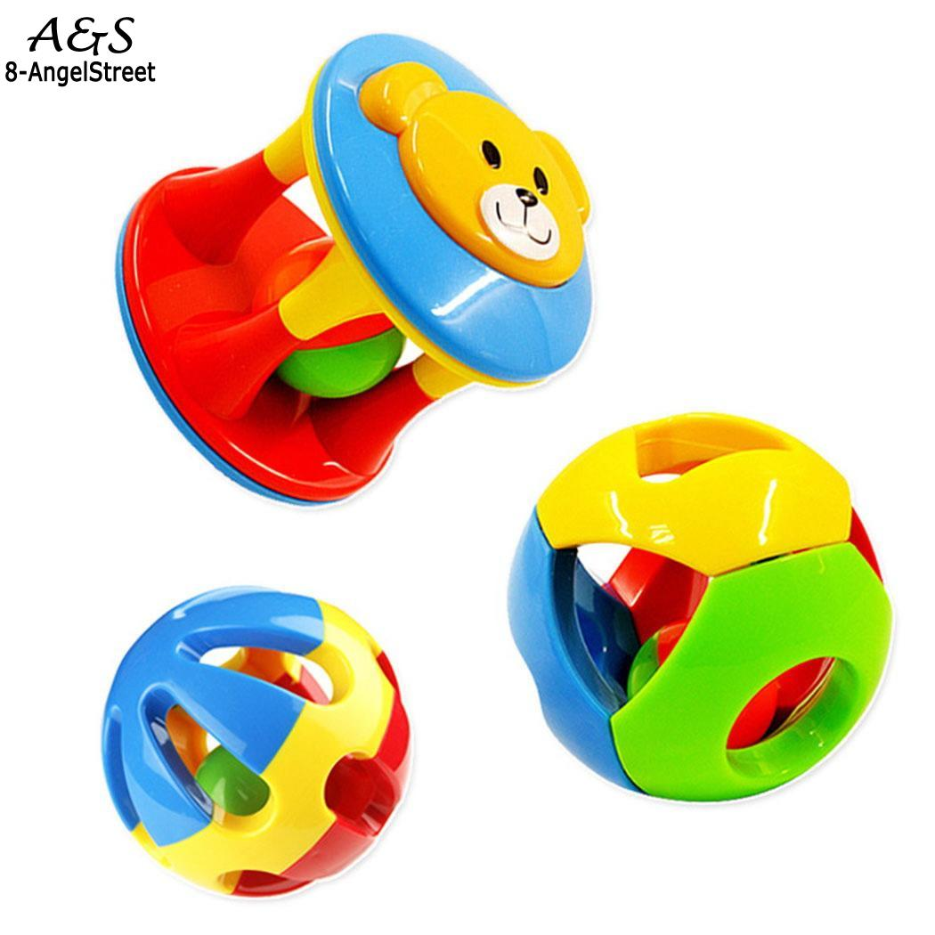 Kids Cute Handbells Musical Developmental Toy Casual Unisex Baby Suitable for babies aging 0-3 years old Rattle Toys