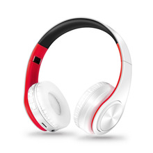 Free Shipping Stereo Shinning Bluetooth Headphones Wireless Headsets with Mic Support TF Card for iPhone Samsung Calls