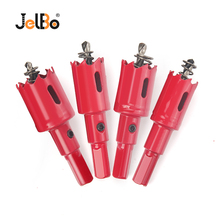 JelBo HSS Metalworking Drill Bit Opener Hole Saw Stainless Steel Core Drill Bit Set Aluminum Iron  Plastic Plate Milling Cutter цены