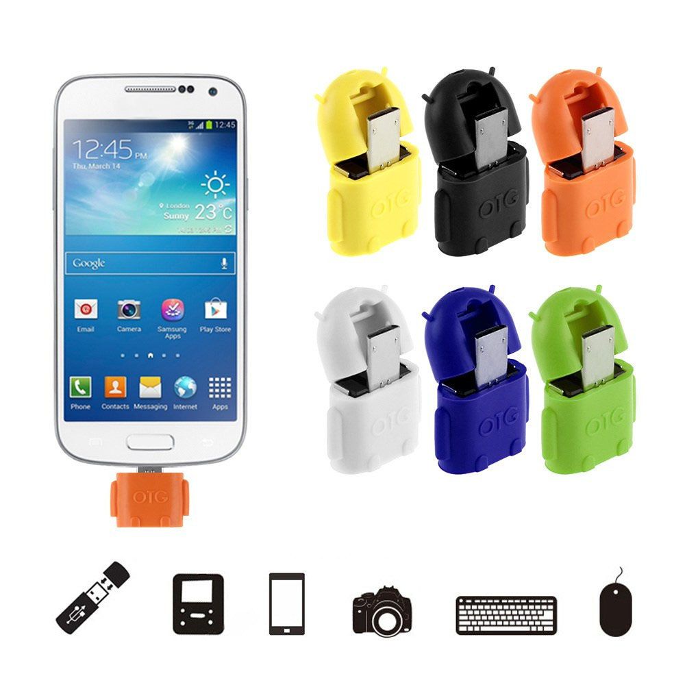 Colorful Mini Micro Usb Otg Cable To USB OTG Adapter For Samsung HTC Xiaomi Sony LG Android OTG Card Reader Usb OTG Adapter