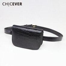 CHICEVER Women Belt Female With Bags PU Leather Cummerbund B