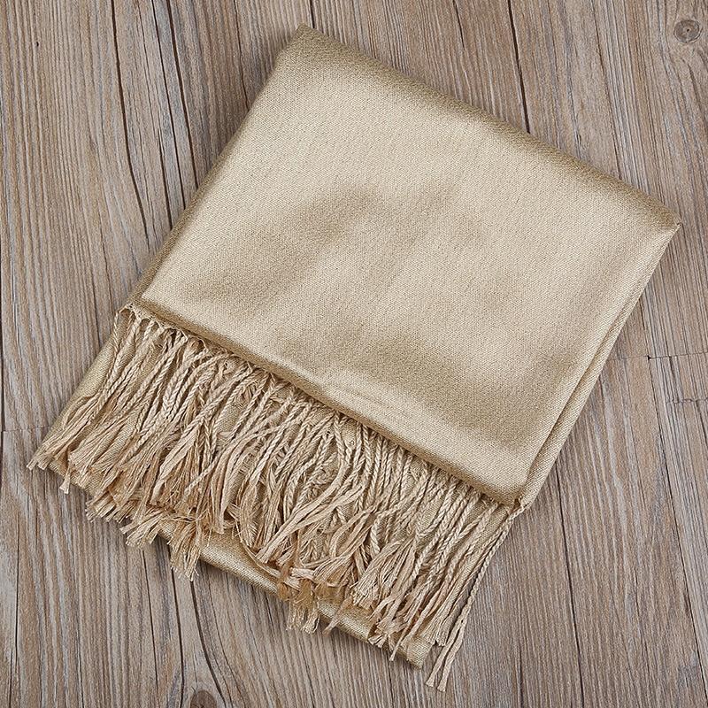 Jinjin.QC Women Winter Cotton And Rayon Scarf And Shawls Echarpe Foulard Femme Golden Shiny Bandana Muslim Hijab Drop Shipping