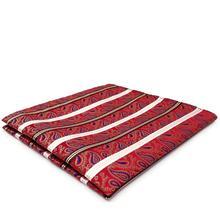 дешево!  YH33 Красный Белый Полосатый Мужской Карманный Квадрат Пейсли Шелк Жаккард Тканый Платок Платок