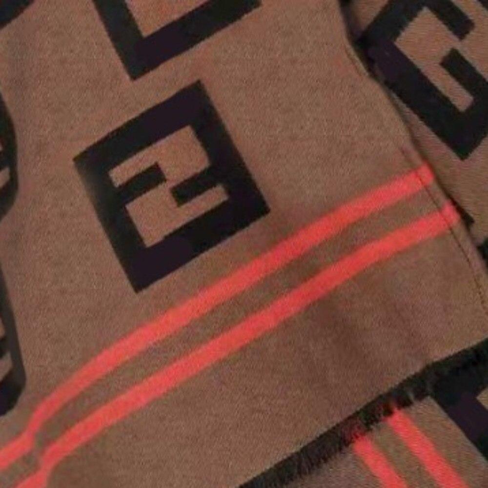 FANTASIC Роскошные F осень зима новый шаблон жаккардового переплетения шерсть средства ухода за кожей Шеи женский шарф-шаль накидка