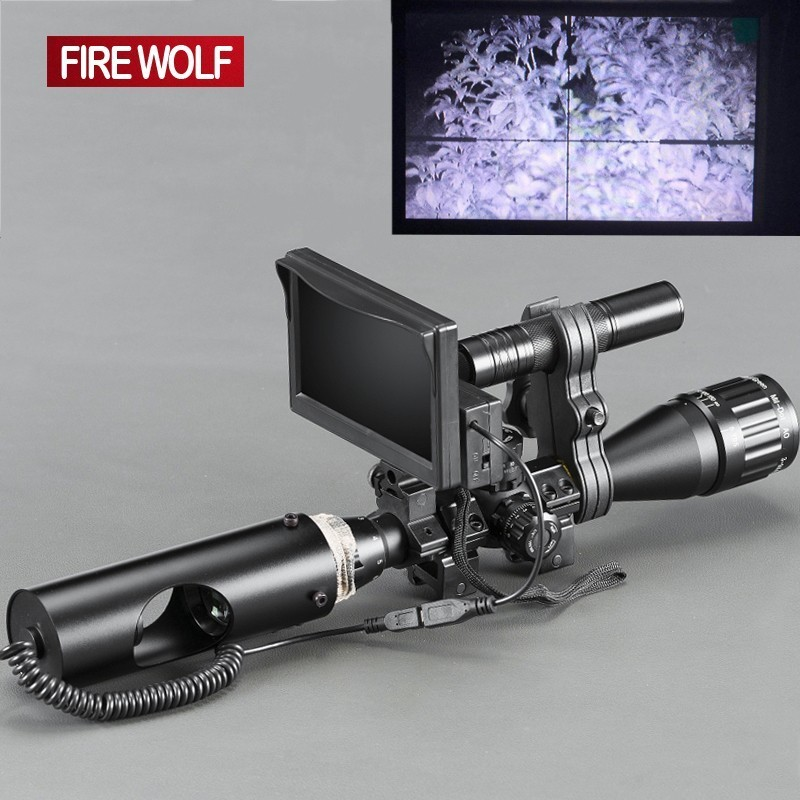 Night Vision RiflescopTactical Digital Infrarede With LCD and IR Flashlight Optical Sights Hunting Scopes