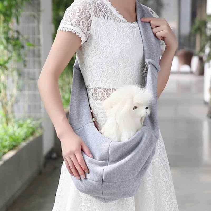 Hands-Free Cat Dog Sling Crossbody Saco de Viagem Ao Ar Livre Portátil Crossbody Ombro Bolsa Sling Saco de Portador do animal de Estimação para Cachorro cão Gato