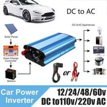 Smuxi DC 48V/60V to AC 220V Solar Power Inverter 4000W Modified Sine Wave Converter for car truck(China)