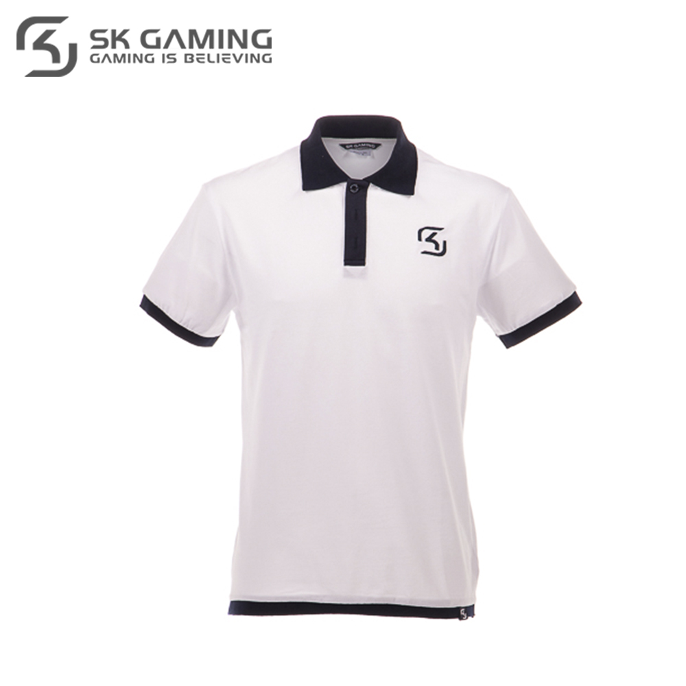 Polo Shirts SK Gaming FSKPOLOSH17WT0000 clothes for men clothing mens brand Tops Tees Cotton Casual League of legends esports new arrival 2017 polo fashion men bags casual leather messenger bag high quality man brand business bag men s handbag