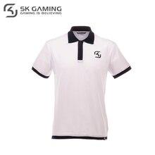 Поло SK Gaming мужское белое из хлопка