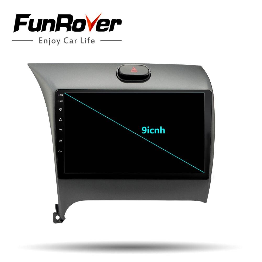 Lecteur multimédia Radio de voiture Funrover Android 8.0 DVD de voiture pour Kia CERATO K3 FORTE 2013 2014 2015 2016 unité de tête gps navigation 9