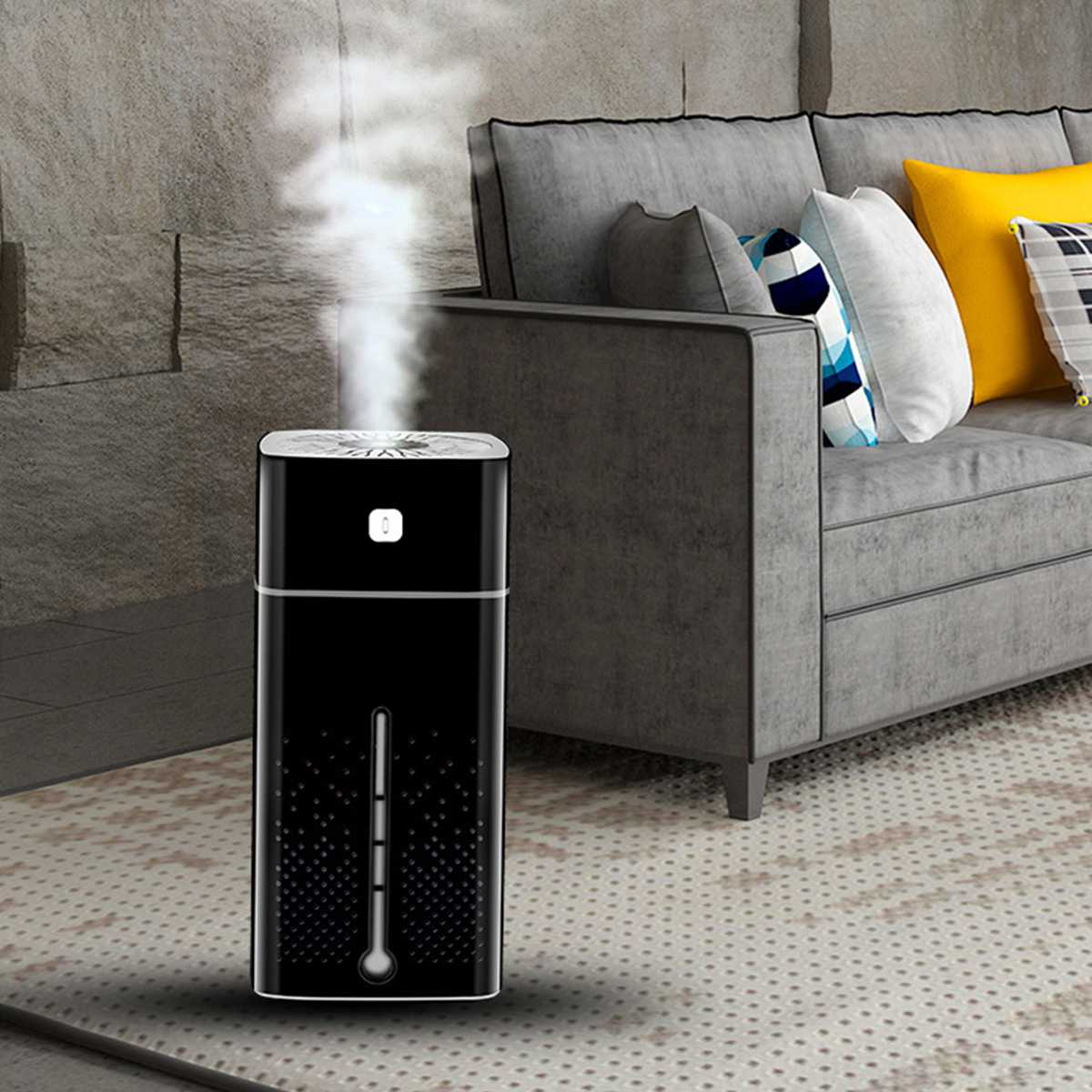 Household Air Purifier with Essential Aromas Oil Diffused and 7 Color LED Lights Powered by USB 3