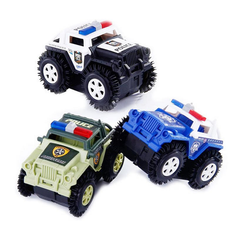Kids Toys Truck Cars Model Battery Powered For Baby Car Gifts Diecast For Children Fast And Furious Stunt Tumbling Police Car