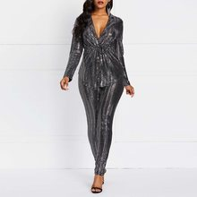 Fashion Women Blazer Set Silver Sequins Casual Coat Skinny P