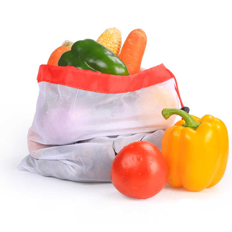 Reusable Mesh Produce Bags Washable Eco Friendly Bags for Grocery Shopping Storage Fruit Vegetable Toys Sundries