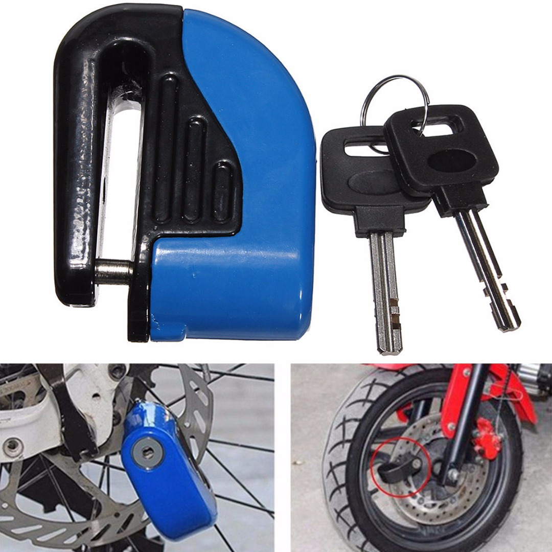 JXLCLYL 6mm Motorcycle Security Anti-theft Wheel Disc Brake Alarm Lock Blue